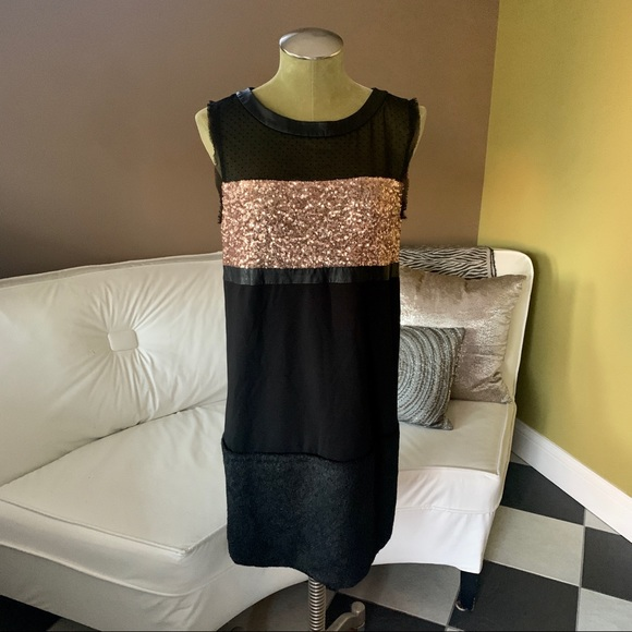 RACHEL Rachel Roy Dresses & Skirts - •RACHEL Rachel Roy• Sequin/Faux Fur Dress